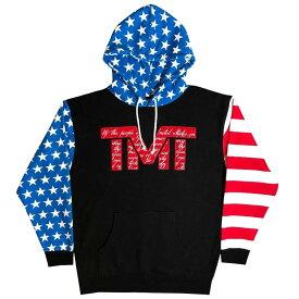tmt-mo35-4rwbk THE MONEY TEAM ザ・マネーチーム パーカーTMT DECLARATION 黒ベース×赤ロゴ フロイド・メイウェザー ボクシング 男性 メンズ ブラック プリント アメリカ TMT WBC WBA( おしゃれ グッズ メイ ウェザー メイウェザー )
