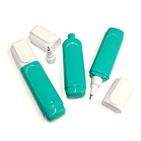 [Correction pen Empty bottle] 3個セット/15ml Green bottle Metal tip marker (修正液/修正ペン 空ボトル容器)