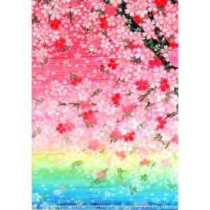 クリアファイル クリアフォルダー A5 和風 クリア おしゃれ 収納しやすい サイズ 桜(さくら) ファイル クリアケース 振込用紙 ケース 海外 cherry 母の日 父の日 絵葉書 ポストカード クリスマ