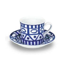 【店内全品エントリーでポイント10倍】DANSK アラベスク コーヒーカップ&ソーサー おしゃれ カップ&ソーサー かわいい 青 白 食器 お祝い ギフト 【あす楽対応】