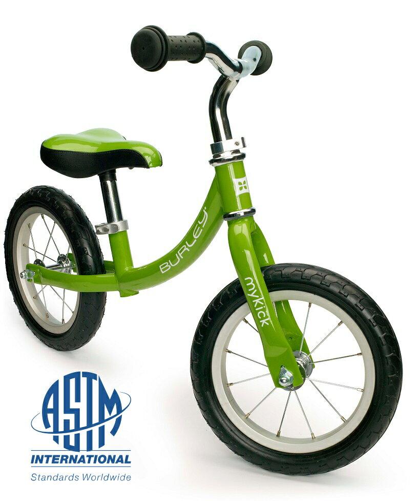 【即納】プレミアム・バランスバイク・マイキック<Burley MyKick>バランスバイク 3歳くらいから体重:22.8Kgまで自重:4.5Kg・Bike Fridayの思想を継ぐ、本格派ハイエンドモデル カラー:サマー・グリーン