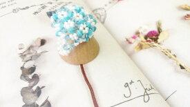 ★ラッピング無料★人気 パーティー★サイズ選べる★フォークイーン指輪 〜 abacus bead element 4mm〜(アクアマリン×ターコイズブルー)