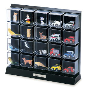 コレクションケース 卓上 フィギュアケース ミニカーケース ディスプレイケース 伊勢藤 ISETO D104
