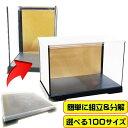 コレクションケース フィギュアケース 雛人形ケース 背面金張りケース W30cm×D18cm×H27cm