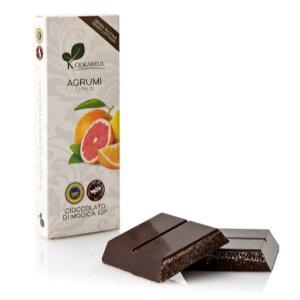 チョカッルーア モディカ チョコレート 柑橘類 (100g) [イタリア シチリア]   CIOKARRUA MODICA CHOCOLATE IGP バレンタイン