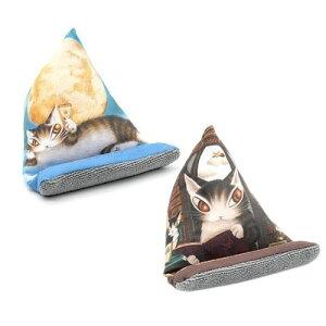 スマホスタンド ( 月に乾杯 / 理想の図書館 ) | わちふぃーるど 猫のダヤン ダヤン ネコグッズ ケース スマホ