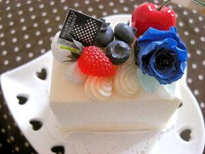 プリザーブドフラワー ローズ レアチーズケーキ ケース入り 花 お祝い スィーツアレンジ ギフト プレゼント お手入れ不要