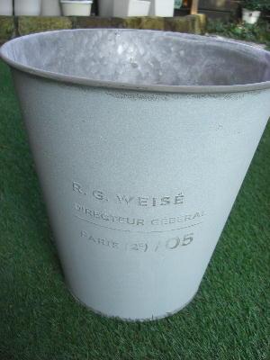 鉢 鉢カバー ブリキポットカバー φ36水色
