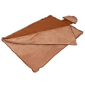 BIBILAB ビビラボ 巣的な毛布 ブラウン ND1-24 蹴飛ばせない袋形状
