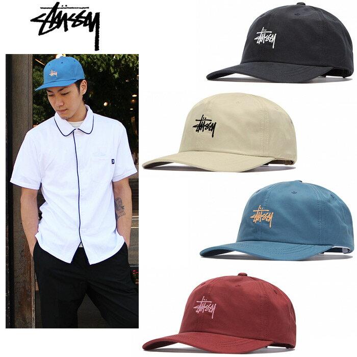 """【STUSSY】ステューシー/""""STOCK LOW PRO CAP"""" 131797 ストック ロープロキャップ ローキャップ ストラップバックキャップ ベーシックロゴ 刺繍 メンズ レディース 帽子"""
