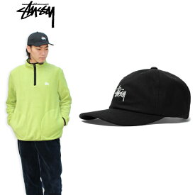 """【STUSSY】ステューシー/""""HO18 Stock Low Pro Cap"""" 131857 ストック ロープロキャップ ローキャップ ストラップバックキャップ ベーシックロゴ 刺繍 メンズ レディース 帽子"""