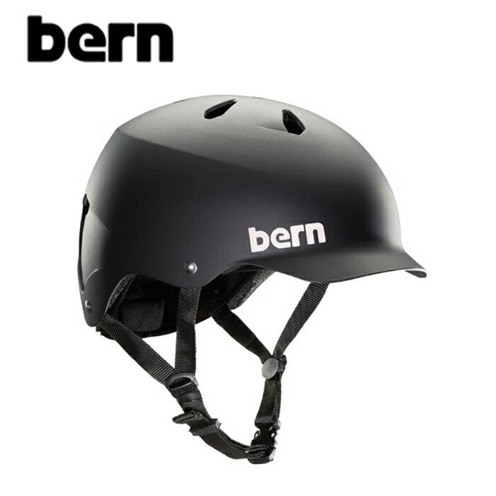 """【BERN】バーン/""""WATTS""""ワッツ 自転車用 ヘルメット クロスバイク マウテンバイク BMX スケートボード ストリート アウトドア【メンズ】【レディース】(MATTE BLACK)"""