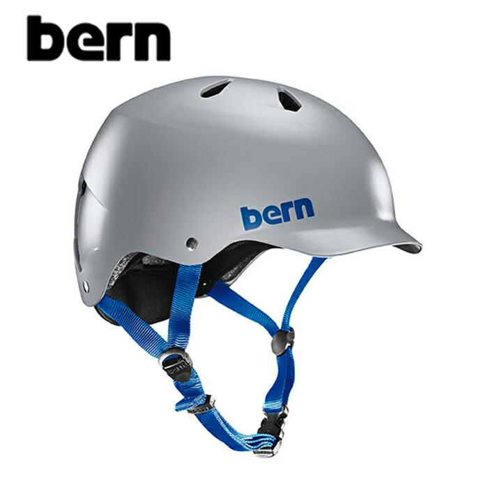 """【BERN】バーン/""""WATTS""""ワッツ 自転車用 ヘルメット クロスバイク マウテンバイク BMX スケートボード ストリート アウトドア【メンズ】【レディース】(SATIN GREY)"""