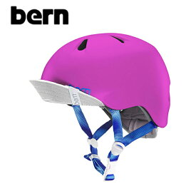 "【BERN】バーン/""NINA"" BE-VJGSPNKV ニーナ ガールズ キッズ 自転車用 ヘルメット クロスバイク マウテンバイク BMX スケートボード ストリート アウトドア キッズ (SATIN HOT PINK)"