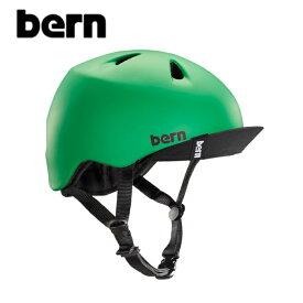 "【BERN】バーン/""NINO"" BE-VJBMGV ニーノ 子供用 ボーイズ キッズ 自転車用 ヘルメット クロスバイク マウテンバイク BMX スケートボード ストリート アウトドア キッズ (MATTE KELLY GREEN VISOR)"