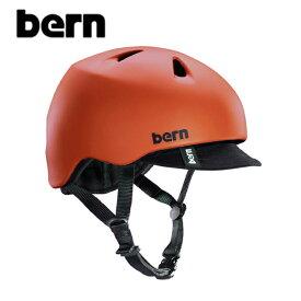 """【BERN】バーン/""""NINO"""" BE-VJBMRV ニーノ 子供用 ボーイズ キッズ 自転車用 ヘルメット クロスバイク マウテンバイク BMX スケートボード ストリート アウトドア キッズ (MATTE RED VISOR)"""
