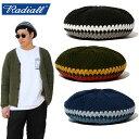 """【RADIALL】ラディアル/""""WEST COAST - TAM"""" RAD-20SS-HAT002 ウエストコースト タム ベレー帽 ニット帽 サマーニット …"""