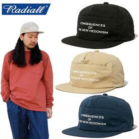 """【RADIALL】ラディアル/""""HEDONISM-CAMP CAP"""" RAD-20SS-HAT005 ヘドニズム キャンプキャップ ナイロンキャップ ローキャップ ジェットキャップ ロゴ プリント アウトドア メンズ レディース 帽子"""