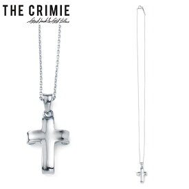 "【""THE"" SERIES COLLECTION】【CRIMIE】クライミー/""LETTER RIBBON CROSS NECKLESS"" CRA1-JW92-LN01 レター リボン シルバー ネックレス シルバー925 SILVER925 メンズ レディース アクセサリー ジュエリー (SILVER)"