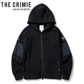 """【CRIMIE】クライミー/""""POLARTEC FLEECE ZIP PARKA"""" CR01-01K5-JK41 ポーラテック フリース ブルゾン ジップジャケット ボアジャケット ジップパーカ 長袖 メンズ レディース アウター (BLACK) A"""