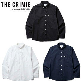 "【CRIMIE】クライミー/""BD STRETCH SHIRT"" CR01-02L1-SL03 ボタンダウン ストレッチ シャツ BDシャツ プリント フォーマル 長袖 メンズ レディース トップス"