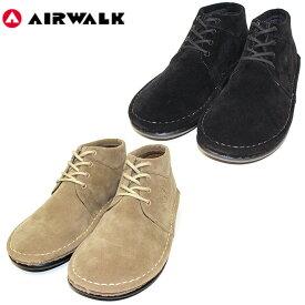 """【AIRWALK】エアウォーク /""""OUTLAND D.BOOTS"""" AWCL-6103 アウトランド ディー ブーツ スニーカー ミッドカット ミドル モカシン スエード アウトドア ストリート 撥水 復刻 メンズ レディース 靴"""