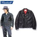 "【RADIALL】ラディアル/""BONNIE RIDERS JACKET"" RAD-18AW-JK012 ボニー ライダース ジャケット ディアスキン ダブル レザージャケット …"
