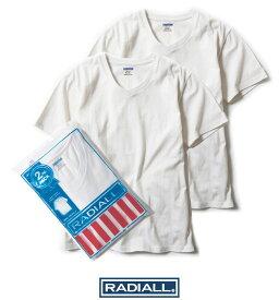 """【楽天SALE】20%OFF【セール】【RADIALL】ラディアル / """"2PAC BASIC-V"""" RAD-PAC019 Vネック Tシャツ 半袖 無地 2枚組セット メンズ レディース カットソー (WHITE)"""
