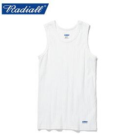 """【RADIALL】ラディアル/""""BASIC - TANK TOP"""" RAD-19SS-CUT019 ベーシック タンクトップ インナー クルーネック 下着 メンズ レディース カットソー (WHITE)"""