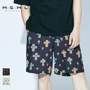 MSML CROSSES WIDE SHORTS M11-02A1-PS02 ショーツ 総柄 BONEZ パンツ セットアップ カジュアル アメカジ ストリート ファッション ブ…