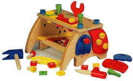 木製大工さんのベンチ ツールセット おもちゃ