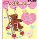人形用ベビーカー かわいいピンクのくまさん柄