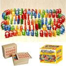 木製ABCドミノ木箱付きアルファベットドミノ知育玩具