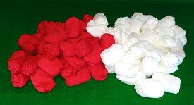 玉入れ 球 玉入れ玉 紅白セット 赤白各50個計100個セット 紅白玉 収納袋付き