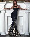 ロングドレス キャバドレス パーティードレス エレガントな裾レース切替デザイン フレアーロングドレス