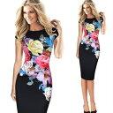 キャバドレス キャバワンピ ミニドレス フロント花柄デザインミニドレス 大きいサイズのドレス ドレス
