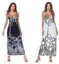 ナイトワークやリゾートワンピにも使えるベイズリー柄風リゾート風ロングワンピース キャバドレス ロングドレス