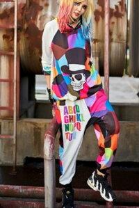 サルエルパンツダンス衣装DANCEファッションHIPHOP系ストリート系インパクトあり!迷彩柄プリントサルエルパンツボトム