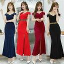 ロングドレス キャバドレス ドレス エレガント sexyな肩魅せデザイン ストレッチロングドレス