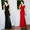 ロングドレス キャバドレス ドレス エレガントシックなデザインでシンプルなセクシーロングドレス