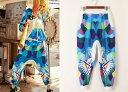 サルエルパンツ ダンス衣装 DANCEファッション HIPHOP系 ストリート系 インパクトあり!迷彩柄プリントサルエルパンツ ボトム パンツ