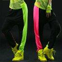サルエルパンツ ダンス衣装 DANCEファッション ダンス衣装 蛍光プリントパンツ ボトム