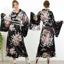 可憐に花魁乱れ咲き/和柄デザイン着物ロングドレス キャバドレス ドレス 着物ドレス 浴衣ドレス 和柄 イベント