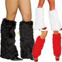 クリスマスの必需アイテム!レッグウォーマー/サンタ イベント ダンス よさこい衣装にも 左右セット