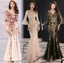 ロングドレス キャバドレス キャバワンピ  煌めくスパンコール装飾にエレガントなメッシュレース重ねストレッチロングドレス