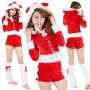 サンタ衣装 コスプレ クリスマス衣装 クリスマスイベントの必需アイテム サンタ衣装セット トップス&パンツ&ウォーマーセット キャバクラ ラウンジ