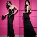 ロングドレス キャバドレス キャバワンピ豪華でエレガントな流れるビジュ装飾デザイン セクシースリットロングドレス フォーマルドレス パーティードレス