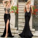 ロングドレス キャバドレス キャバワンピ 大胆な鬼深スリットデザイン 欧米風セクシーロングドレス フォーマルドレス パーティードレス