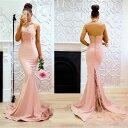 ロングドレス キャバドレス キャバワンピ ナイトワーク フォーマル パーティーに胸元レースデザインマーメイドロングドレス