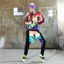サルエルパンツ ダンス衣装 DANCEファッション HIPHOP系 ストリート系 インパクトあり!大きな目 柄プリントサルエルパンツ ボトム